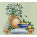 Ромашки, набор для вышивания крестиком 14х14см 19цветов Panna
