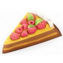 Тортик с малинкой, пластиковая форма для мыла 55г 90х75х15мм PC
