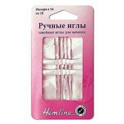 Иглы ручные для штопки №14-18, 5шт Hemline