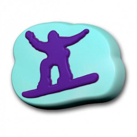Сноубордист, пластиковая форма для мыла