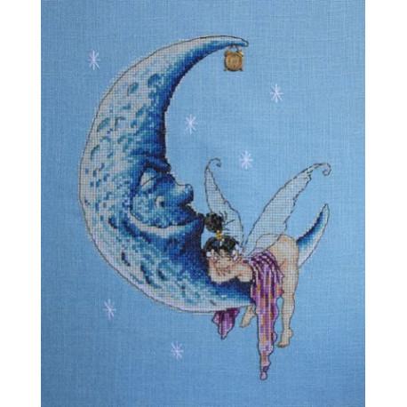 Лунные грёзы, набор для вышивания крестом 18х24см мулине Finca 20цв. канва Linda 27ct Neocraft