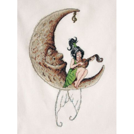 Лунная соната, набор для вышивания крестом 18х28см мулине Finca 19цв. канва Linda 27ct Neocraft