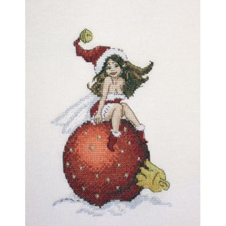 Новогодняя фея, набор для вышивания крестом 12х17см мулине Finca 17цв. канва Linda 27ct Neocraft