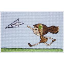 Самолетик, набор для вышивания крестом 15х8см мулине Finca 12цв. канва Zweigart 14 Neocraft