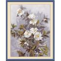 Серебрянное утро, набор для вышивания крестиком, 27х35см, 22цвета Panna
