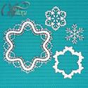 Зимнее кружево, чипборд 11х11см CraftStory