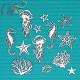 Морские обитатели, чипборд 11х11см CraftStory