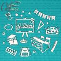 Школьные будни, чипборд 11х11см CraftStory