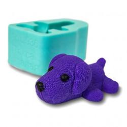 Такса вязаная, 3D силиконовая форма для мыла