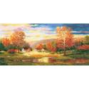 Золотая осень, набор для вышивания крестиком 40х21см 29цветов Алиса