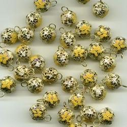 Желтый, бубенчики резные 14 мм 10 шт Zlatka