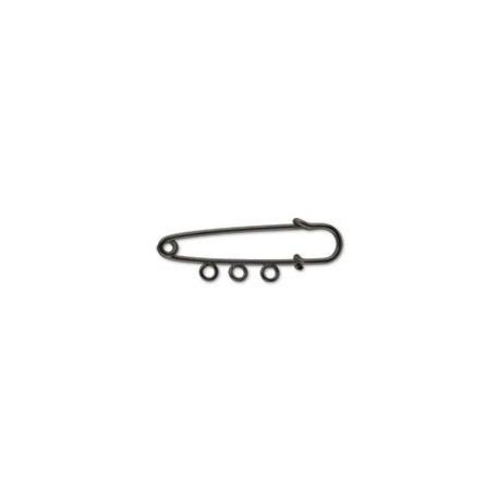 Под черный никель, булавка для подвесок 3 петли, 5см. Zlatka