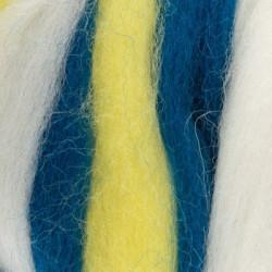 Мультиколор, шерсть для валяния, 100% мериносовая шерсть 50г