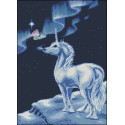 Единорог, рисунок на канве для вышивки нитками, 28х39см НоваСлобода
