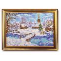 Рождественская сказка, набор для вышивания бисером 27х38см, частичная, Радуга Бисера