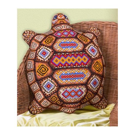 Черепашка(подушка), набор для вышивания крестиком, 36х44см, 10цветов Panna