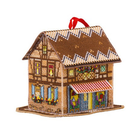 Волшебный домик, набор для вышивания крестиком, 10х10х12см, 19цветов Panna