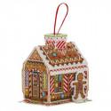 Пряничный домик, набор для вышивания крестиком 10х12х12см 14цветов Panna