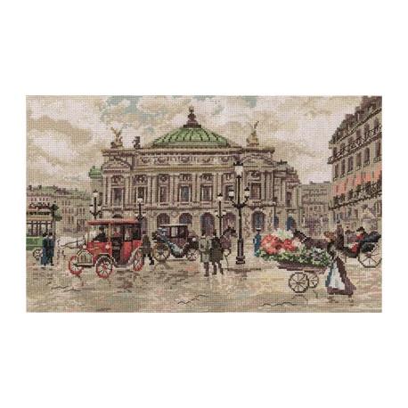 Париж.Гранд Опера, набор для вышивания крестиком 40х25см 31цвет Panna