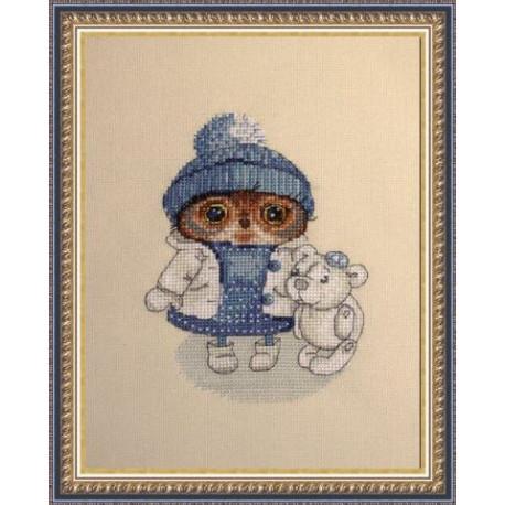 Снежность, набор для вышивания крестом 11х15см мулине Finca 16цв. канва Linda 27ct Neocraft