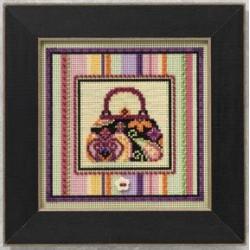 Сумочка, набор для вышивания бисером и нитками на перфорированной бумаге, 13х13см Mill Hill