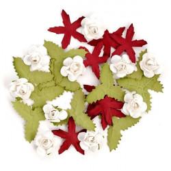 Цветы бумажные новогодние 30шт. MAGIC HOBBY