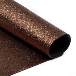 Коричневый, фоамиран глиттерный 2мм 20*30 см