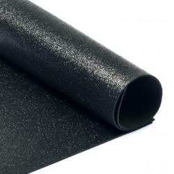 Черный, фоамиран глиттерный 2мм 20*30 см