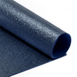 Темно-синий, фоамиран глиттерный 2мм 20*30 см