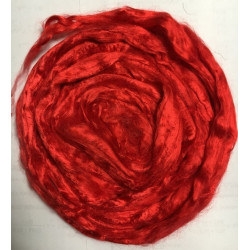 Красный, вискоза для валяния 25г, Gamma