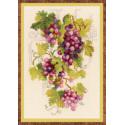 Виноградная лоза, набор для вышивания крестиком 21х30см нитки шерсть Safil 24цвета Риолис