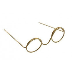 Очки без стекла, под золото диаметр 13мм круглые, металл