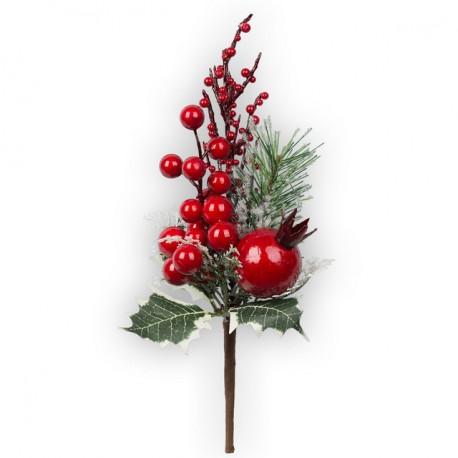 Веточка граната, декоративный элемент для флористики 26см. Blumentag