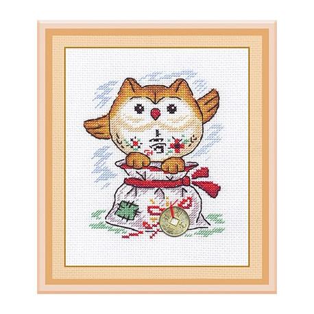 Мешочек счастья, набор для вышивания крестиком 14х17см 11цветов Panna