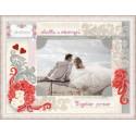 """Панно для фото """"Любви и счастья"""", набор для вышивания крестиком,40х30см, нитки шерсть Safil 13цветов"""