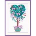 Дерево желаний, набор для вышивания, 21х30см, шерсть+ленты 7+3цветов Риолис