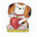 Любовь и верность, набор для вышивания крестиком 11х13см 9цветов Panna