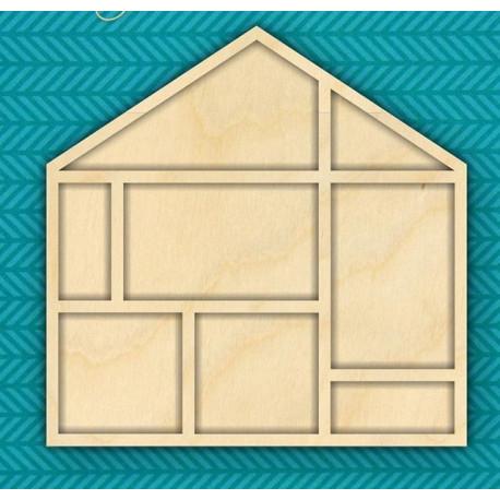 Фоторамка домик, заготовка для декорирования 21х21см, фанера 3мм CraftStory