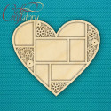 Фоторамка сердце, заготовка для декорирования 30х26см, фанера 3мм CraftStory