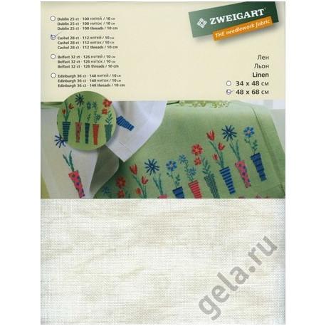 Канва в упаковке, Vintage Кашель 28ct., 100% лен, 68х48см цвет №1079