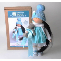 Ксюша, набор для шитья куклы 27см. Pugovka Doll