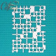 Микросхема, чипборд 12х15см CraftStory