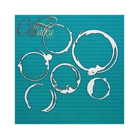 Отпечатки от кружки 2, чипборд 12х15см CraftStory