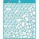 Кирпич и камень, трафарет 15х18см толщина 0,5мм CraftStory