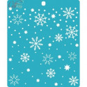 Снегопад, трафарет 15х18см толщина 0,5мм CraftStory