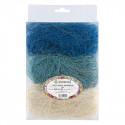 Белый/голубой/синий, сизалевое волокно 30гр. Blumentag