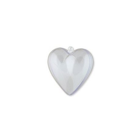 Сердце, заготовка для декорирования пластик 6,3х6,5х3,7см Love2Art