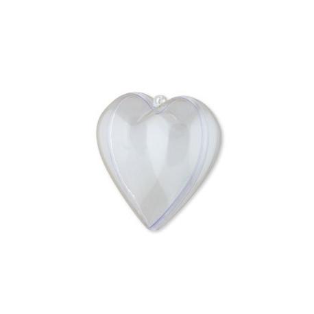 Сердце, заготовка для декорирования пластик 8х8х4,6см Love2Art