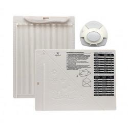 Доска для создания конвертов и открыток 21,5x16,2x0,7см в комплекте с угловым дыроколом