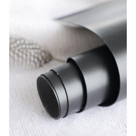 Черный, переплетный кожзам для скрапбукинга 33х70(±1см) Италия